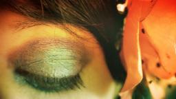 Eye macro woman retro 70s Footage