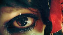 Eye macro woman vintage film Footage