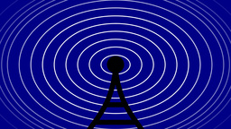 graphical antenna and radio waves Animation