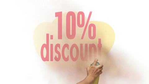 10 Percent Discount Spray Painting Animation