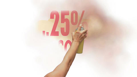 25 Percent Discount Spray Painting Animation