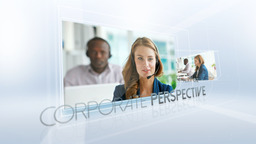 Corporate Perspective - Apple Motion and Final Cut Pro X Template Apple Motionテンプレート
