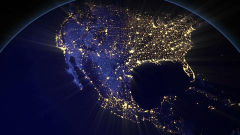 Night Earth USA Videos animados