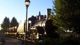 Historic Locomotive Near Downtown Flagstaff stock footage