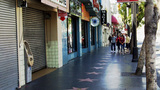 Hollywood Boulevard Shops Walk Of Fame People stock footage