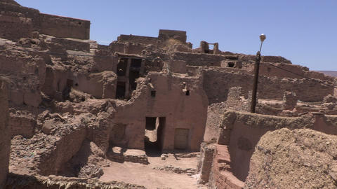 Inside Ruins In Assa Morocco - FT0035 stock footage