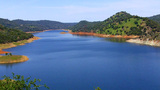 Lake Don Pedro Lake Water Reservoir stock footage