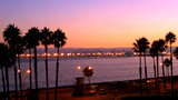 Long Beach California Harbor At Dusk stock footage