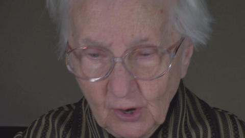 Old Lady Taking Her Glasses Off Close Up-Shot Footage