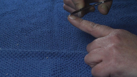 Detail Of Two Hands Nail Clipping Side-Shot Footage