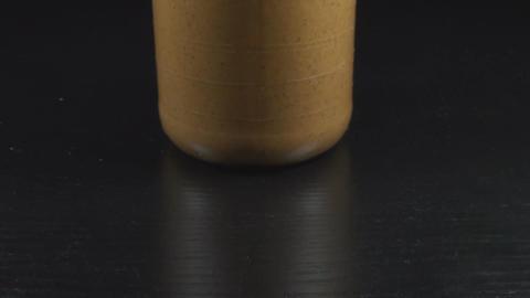 A Jar Of Peanut Butter Tilt-Shot Footage