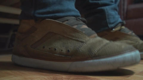 Detail Of Feet Tapping Into The Rhythm Of The Musi Live Action