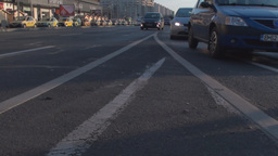 Still-Shot Of Sunday Traffic In Bucharest stock footage