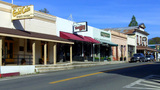 Mariposa California Main Street Businesses stock footage