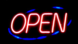 Neon Open Sign At Night stock footage