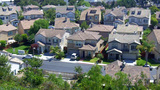 New Surburban Homes On A Street In The Suburbs stock footage