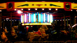 Night Kiddie Carosel Ride At Carnival stock footage