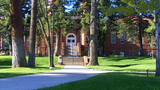 Northern Arizona University Campus Building 3 stock footage