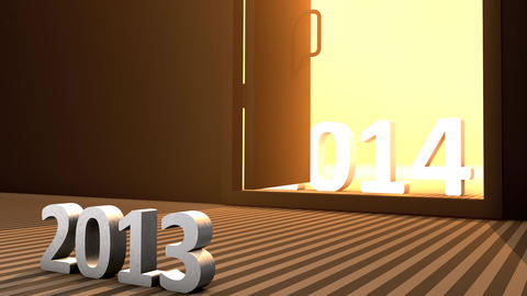 Incoming new year, 2014 Animation