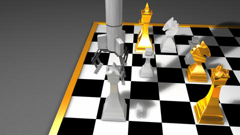 Robot chess playing Animation