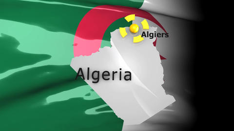 Crisis Map Algeria stock footage