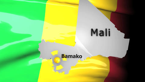 Crisis Map Mali stock footage