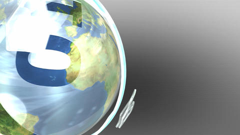 Earth inside futuristic shell Animation