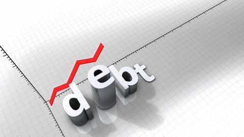 Growing chart - Debt Animation