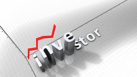 Growing Chart - Investor stock footage