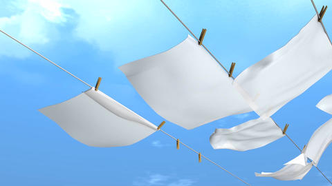 Hang laundry Animation