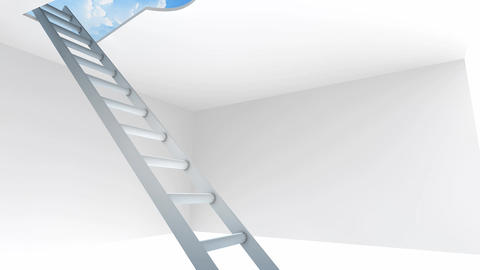Keyhole Ladder stock footage
