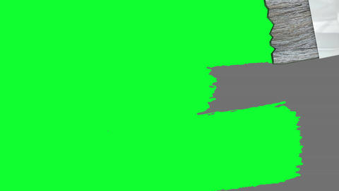 Green screen paint brush animation Stock Video Footage