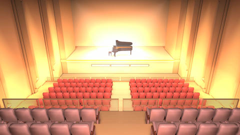 Piano stage Stock Video Footage