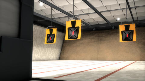 Indoor shooting range Animation