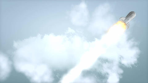 Rocket flyby Animation