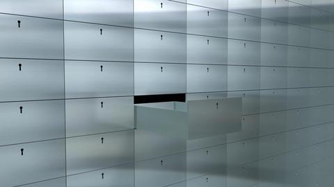 Safety deposit box Animation