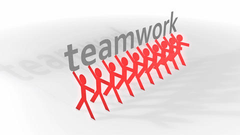 Teamwork stock footage
