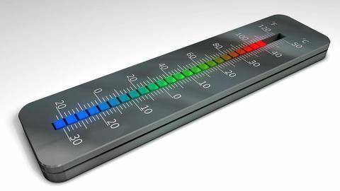 Temperature rising Animation