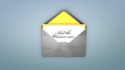 Award envelope Animation