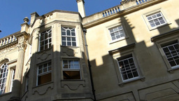 Panning from Magdalen College to the street. (OXFO Footage