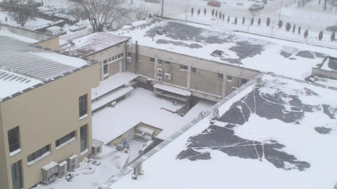 Extreme Blizzard Business Complex Disaster, Calami Footage