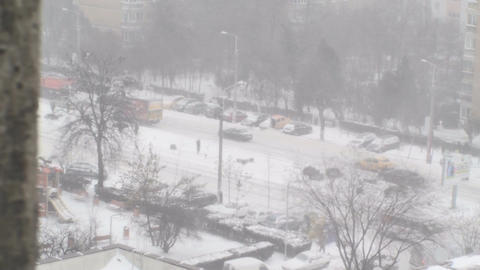 Extreme Blizzard Snow Removal Trucks Working Disas Footage