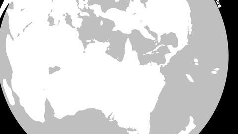 Australia Globe Zoom In v2 1 Animation