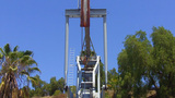 Oil Well Pump Pumping Petroleum Close Up 1 stock footage