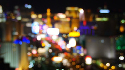 Blurred Las Vegas Strip stock footage