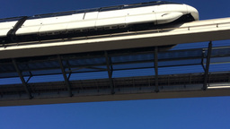 Las Vegas Monorail stock footage