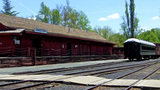 Old West Train Depot 1 Jamestown Railtown stock footage