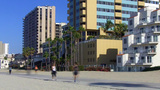 People Exercising At The Beach- Long Beach CA stock footage