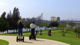 People Riding Segways In Long Beach CA stock footage