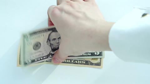 Currency Exchange: Dollar To Euro stock footage